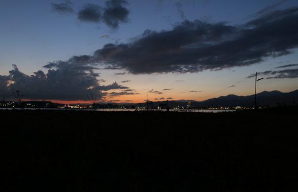 三保の夕陽